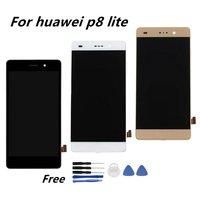 Black White Gold Full LCD For Huawei P8 Lite Display For Huawei P8 Lite LCD Touch