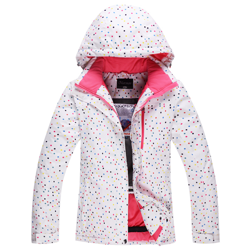 Outdoor winter ski suit female models thick veneer double board ski clothing waterproof warm ski suit female