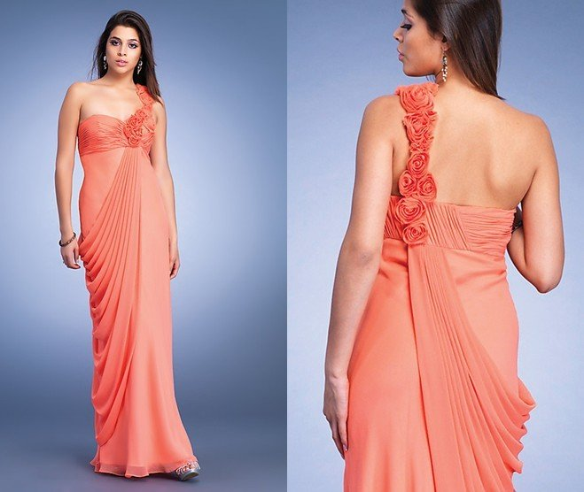 Best Selling Freeshipping One shoulder Chiffon Evening Gown Prom ...