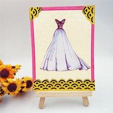 Бабочка Свадебное Платье Резки Металла Умирает для Скрапбукинга DIY Альбом Тиснения Папки Бумаги