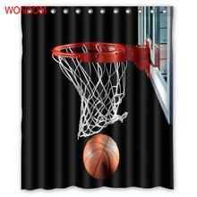 WONZOM Ball Games Drop Curtains with 12 Hooks For Bathroom Decor Modern Bath Waterproof Curtain 2017 New Accessories