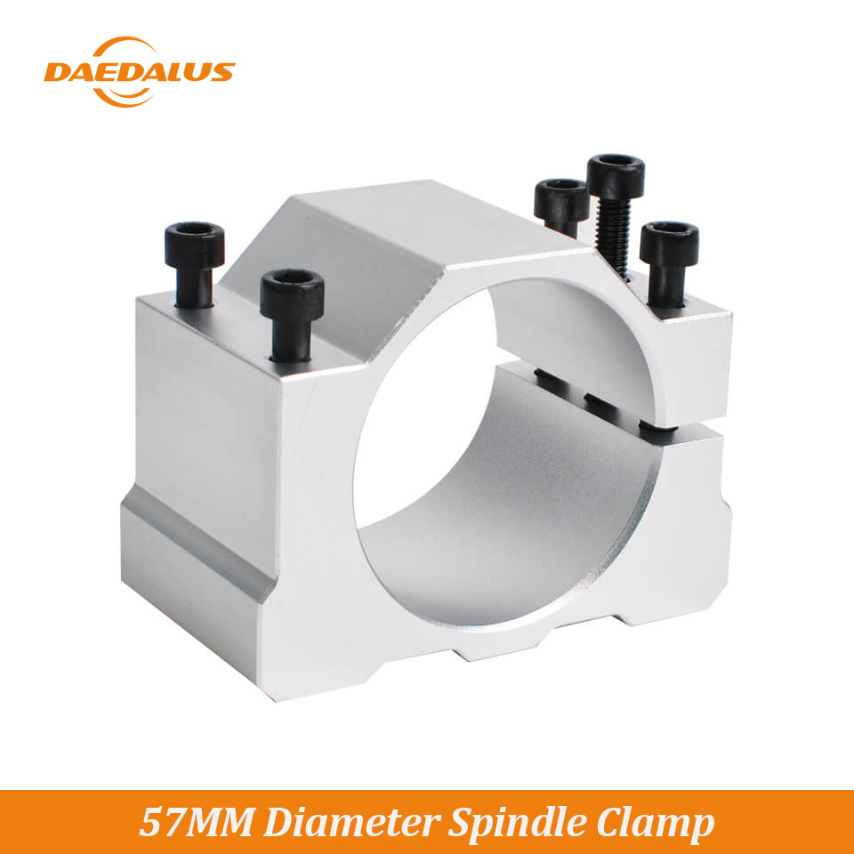 Daedalus 57Mm Spindle Clamp Mounting Bracket Cnc Chucking For 300W 400W 500W Cnc Spindle Motor Drilling Milling Machine Wood