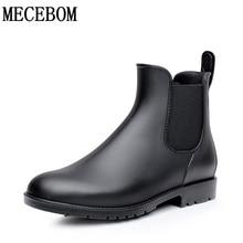 Для мужчин резиновые непромокаемые сапоги «Челси» Botas Hombre Повседневная Slip-On waterproof ботильоны мокасины zapatos masculino 38-43 102 м