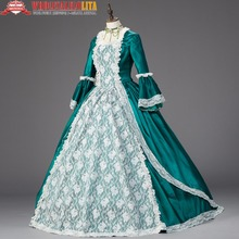 Georgian Marie Antoinette Christmas Dress Caroling Costumes Theater Clothing