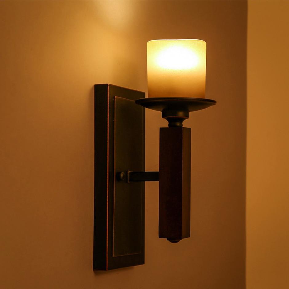 led e14 Loft Iron Glass Candle LED Lamp LED Light Wall lamp Wall Light Wall Sconce For Bar Store Foyer Bedroom Corridor Lobby цена 2017