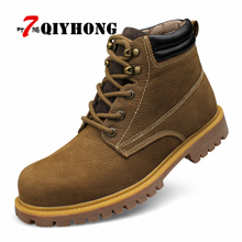 Autumn Winter Men Shoes Genuine Leather Leather Shoes For Men Fashion Footwear Ankle Shoes Casual High Mens Shoes Big Size 6-11