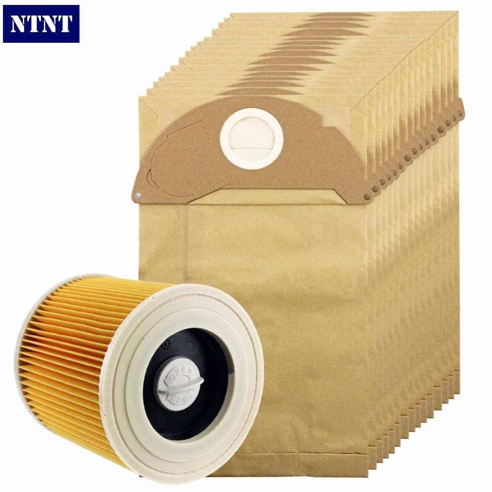NTNT Free Post New 15 Pcs dust bag and 1X Filter Kit For Karcher Vacuum Cleaner A2054,A2064 15 Bags 10pcs washable vacuum cleaner bags dust bag replacement for philips fc8134 fc8613 fc8614 fc8220 fc8222 fc8224 fc8200 free post