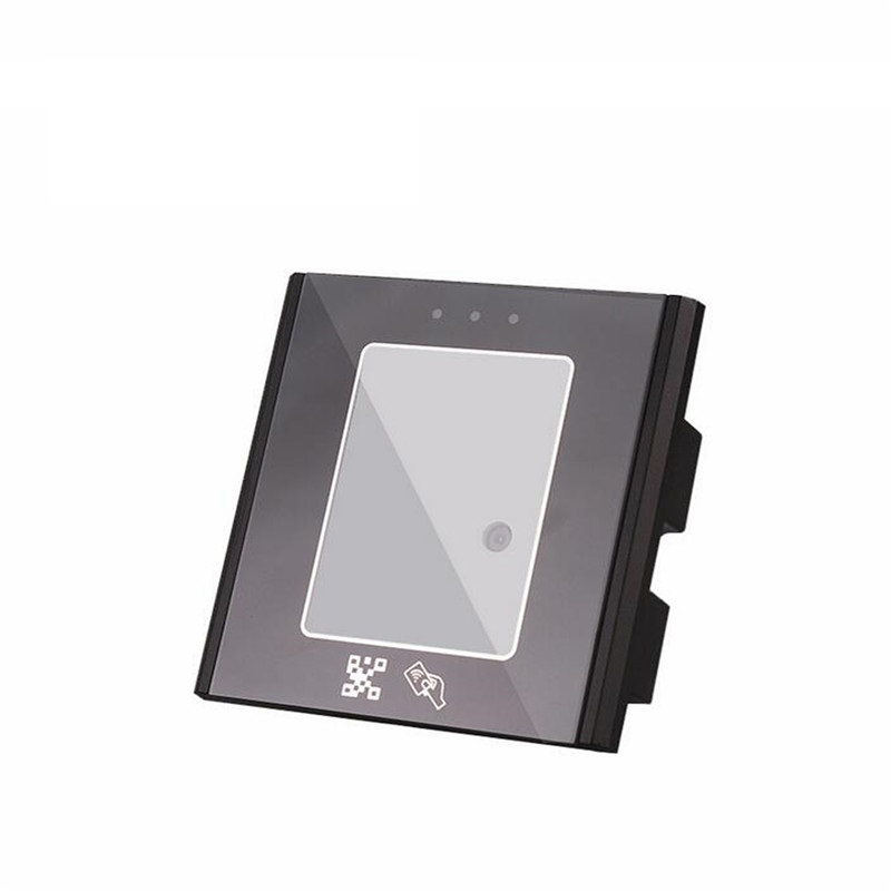 Smart QR code reader 125khz ID / 13.56mhz IC wiegand 26/34 output can as access control card reader 2D QR code scanner