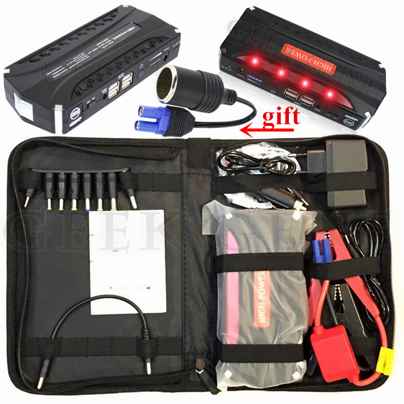 Portable 12V Petrol Diesel Car Jump Starter Power Bank Emergency Starting Device 600A Charger For Car Battery Booster Buster LED 2017 starting device car jump starter 800a pack portable car starter power bank charger for car battery booster petrol diesel ce
