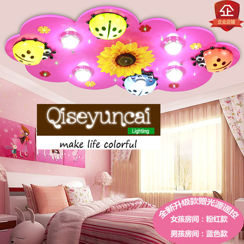 Ceiling Lights Faithful Qiseyuncai Modern Led Eye Childrens Room Ceiling Lamp Boys And Girls Warm Bedroom Cute Cartoon Ladybird Creative Lighting Do You Want To Buy Some Chinese Native Produce?