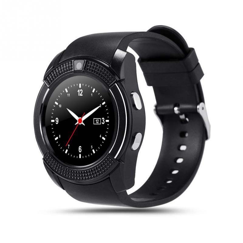imágenes para Bluetooth v8 smart watch reloj de la salud pulsera de fitness podómetro tarjeta sim gsm smart watch para android