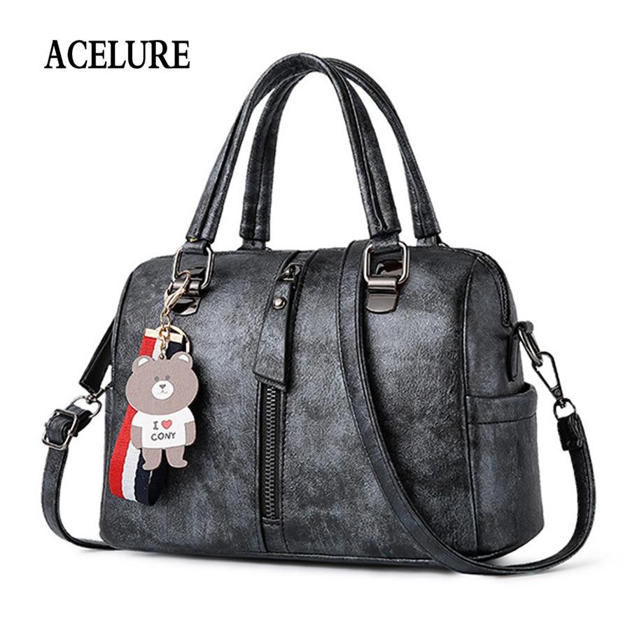 2925ce294ff ACELURE Casual female shoulder bag Box type women s handbag Personality  motorcycle Shoulder bags for women 2018