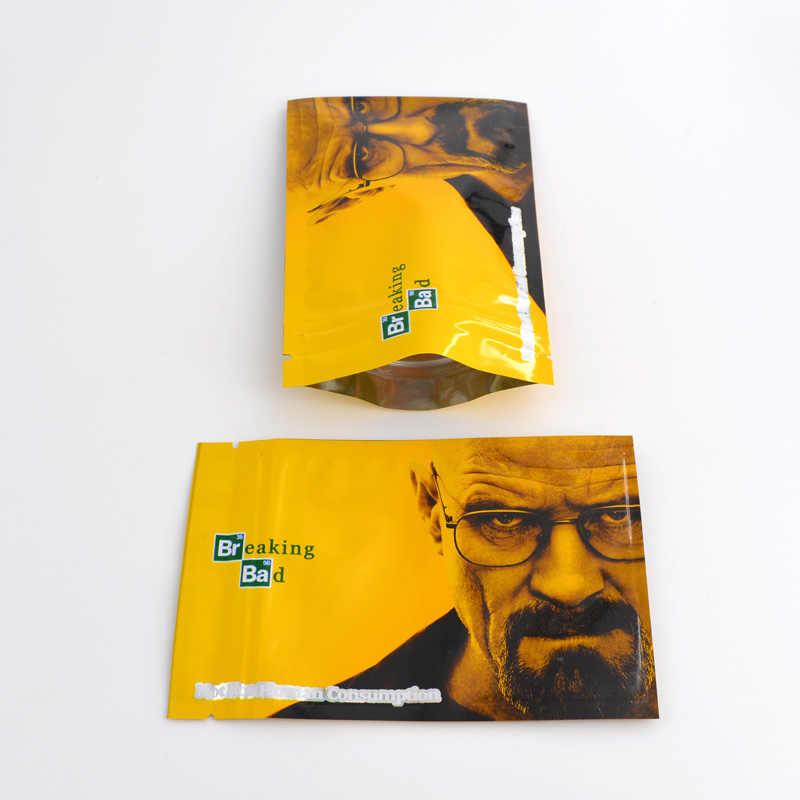 100 pçs 8.5x13 cm (3.3 x x x 5.1 ') zip lock malotes de alumínio mylar folha alimentos sacos 5 10 10 gramas personalizado impresso sacos frete grátis