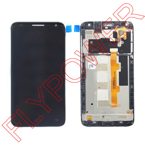 LCD Display +digitizer touch Screen FOR Alcatel One Touch Idol S 6034R OT6034 6034 Assembly with frame Black By Free Shipping