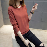 Knitting Sweater 52 7634 Film Collar Hanging Drop 5 Color