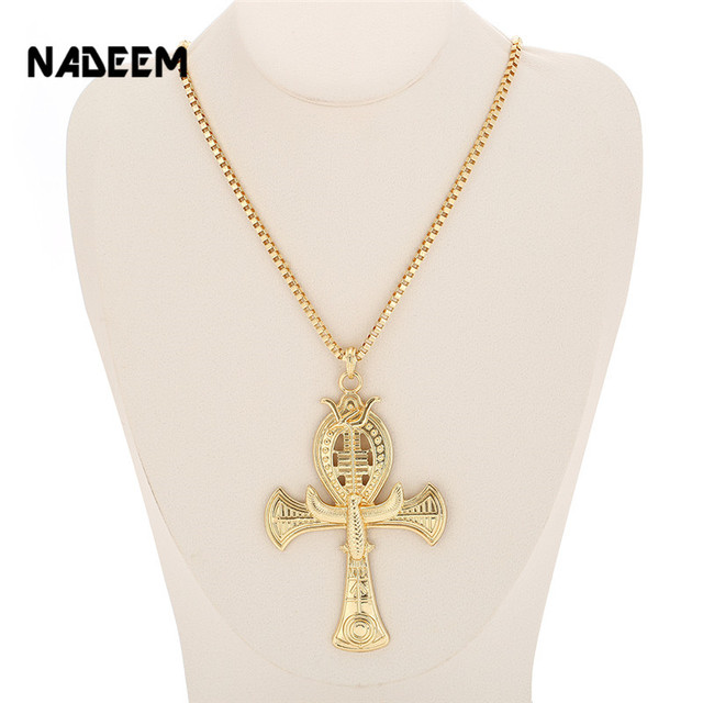 Ancient Ankh Cross Of Horus Egyptian Jewelry Male Eagle Snake