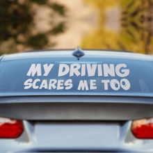 beler My Driving Scares Me Too Car Window Van JDM Custom Funny Vinyl Sticker Decal For VW Audi Toyota Ford BMW Mercedes Benz Kia
