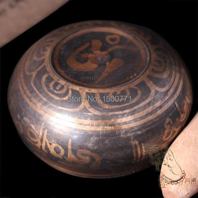 Бесплатная доставка специально для необычного тибетского бронзового золота позолота большого диаметра 7,5 см тибетская бронзовая Поющая ч...