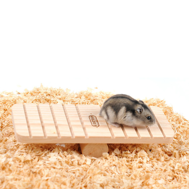 Activity Wooden Rabbit Hamster Seesaw Gerbil Rat Mouse Toy Small Animal Chinchilla Totoro Cage Skateboard House Free Shipping