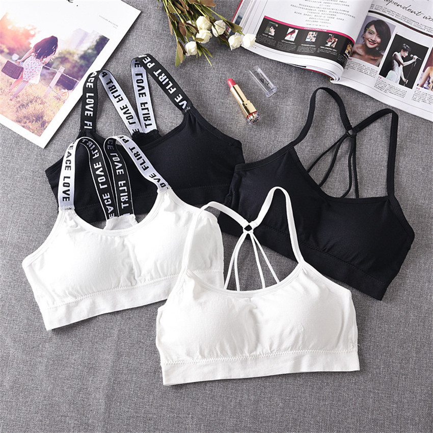 2019 Women   Tank     Tops   Sports Short Solid Fashion Wrapped Chest Explosion Of English Letters With Seamless Beauty Back vest TS04