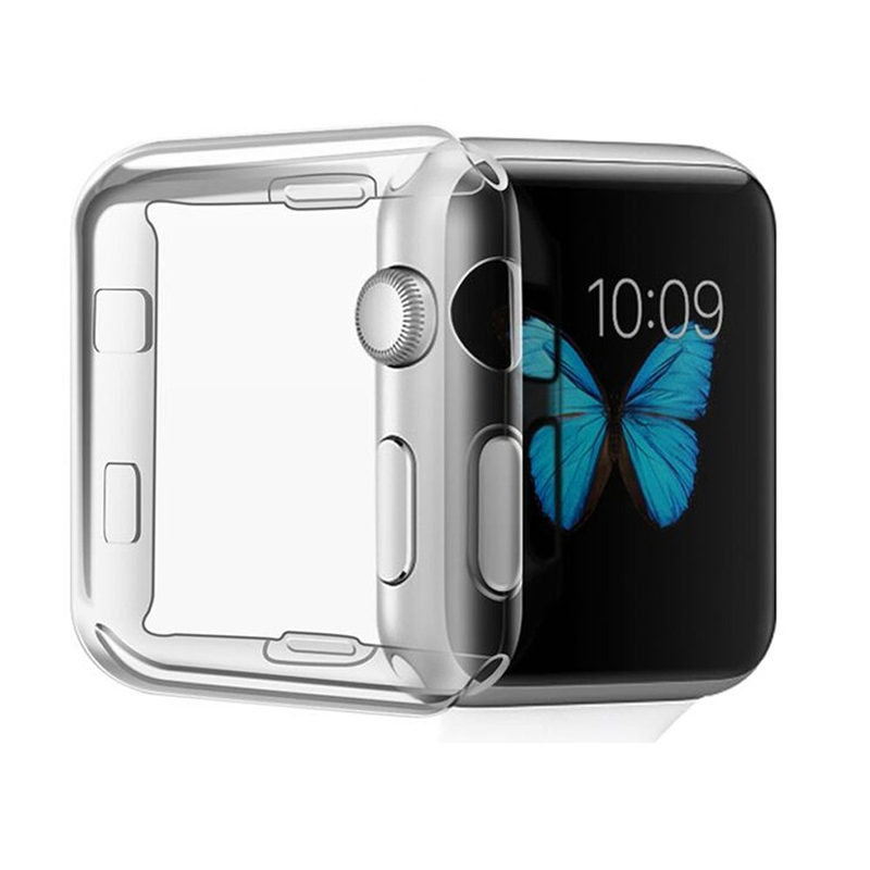 2018 New Ultra-thin Transparent TPU Protective case with screen protector Watch Shell Cover For Apple Watch Series2 38mm 42mm bumvor for apple watch 3 2 1 screen protector tpu all around protective case clear ultra thin cover for apple watch 42mm 38mm