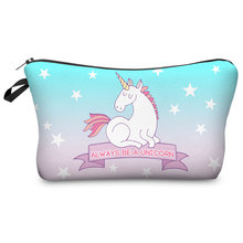 3D Unicorn Printed Cosmetic Bags