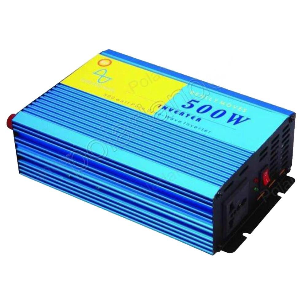 Onduleur de voiture DC 12 V à AC 220 V interrupteur d'alimentation voiture style convertisseur onde sinusoïdale Pure 500 W transformateur de tension