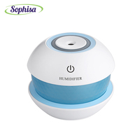 Sophisa 150ml Round Magic Crystal Shape Usb Mini Air Humidifier Aroma Essential Oil Diffuser LED Lights
