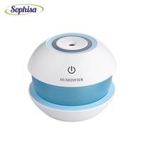 Sophisa 150ml Round Magic Crystal Shape Usb Mini Air Humidifier Aroma Essential Oil Diffuser LED Lights