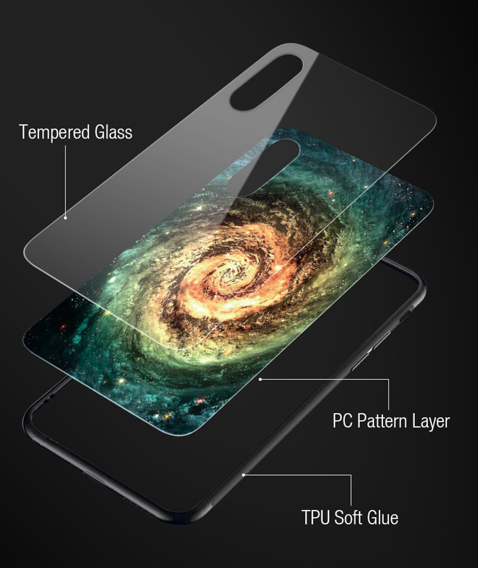 TOMKAS Star Sky Pattern Case For iPhone X 7 8 6 6s Phone Case For iPhone 7 8 6 6s Plus X Cover Tempered Glass Silicone TPU Coque (8)