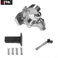JHO Car Trailer Tow Hitch Ball Mounting Kit For Ford Explorer Jeep Grand Cherokee F150 Truck Hook Hauling Receiver Coupler Lock