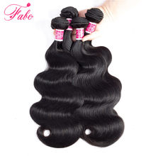 Fabc Hair Malaysian hair weave 4 bundle deals body wave human hair bundles Non-Remy Hair Extensions Free Shipping(China)