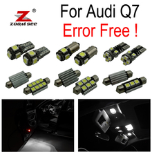 19pc X canbus  LED lamp Interior Lights Kit + Vanity mirror + Front dome + Rear map bulb for Audi Q7 4L Sport (2005-2014)