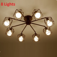 Modern Retro Chandelier for Kitchen Bedroom Hanging Antique Iron Chandelier American Style wrought iron lamp modern LED retro