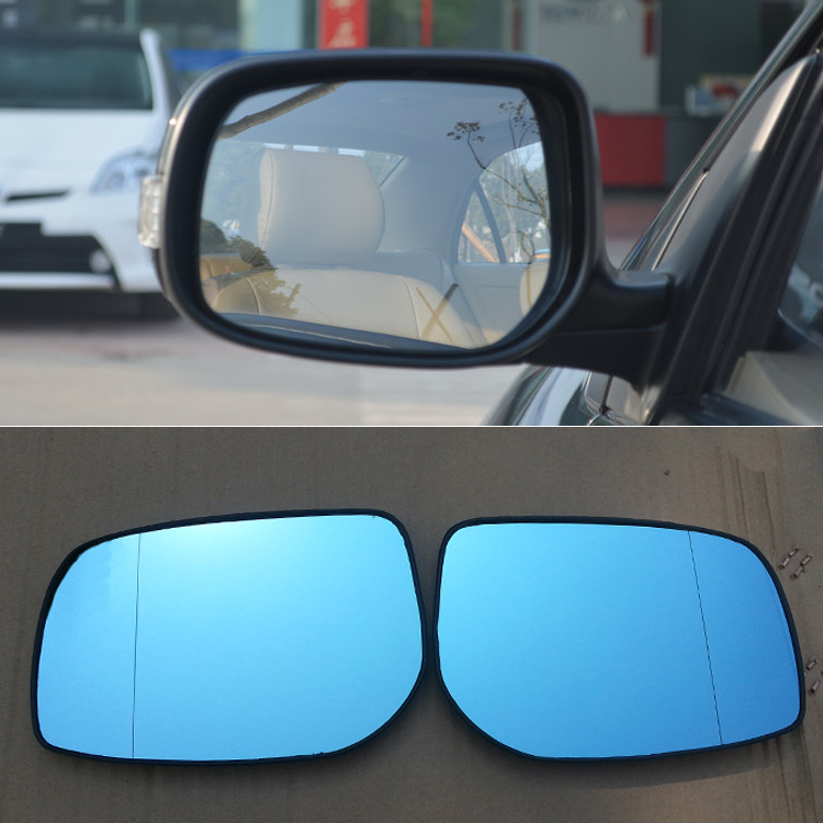 Ipoboo 2pcs New Power Heated w/Turn Signal Side View Mirror Blue Glasses For Toyota Corolla EX