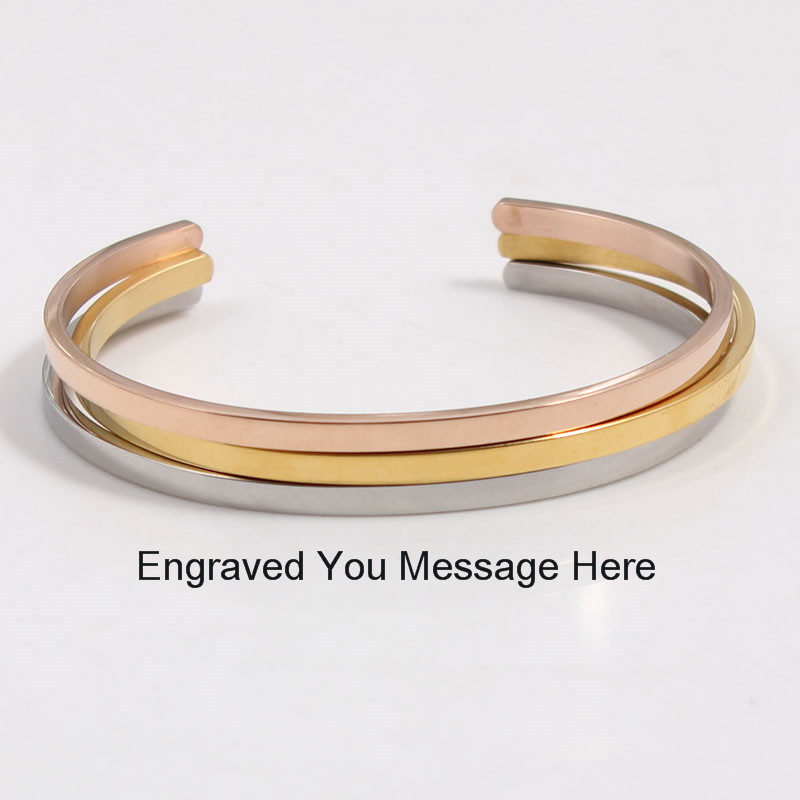 Custom Inspirational Bangle Stainless Steel Bar Hand Stamped Personalized Message Bracelet Quote Cuff Mantra Bracelet Bangle bangle