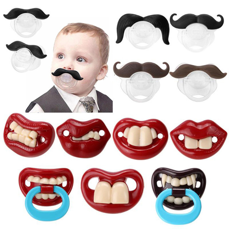 Food Grade Silicone Funny Baby Pacifiers Nipple Teethers Toddler Pacifier Orthodontic Soothers Teat For Baby Pacifier Gift