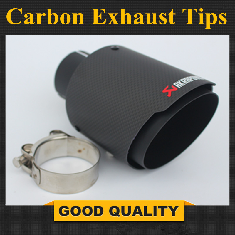 Matte Black Stainless Steel Akrapovic exhaust car carbon Exhaust Tip car styling exhaust pipe muffler tip