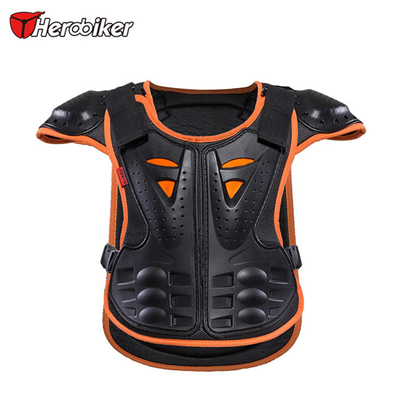 2017 HEROBIKER Youth Forcefield Motocross Motorcycle Gear Kids Youth Body Protector Vest Armor Jacket Chest Protection herobiker armor removable neck protection guards riding skating motorcycle racing protective gear full body armor protectors