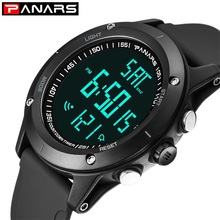 Watches Men Diving-Resistant PANARS Dual-Time Back-Light Fitness Digital Male Relogio