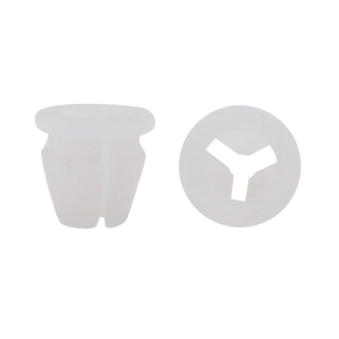 uxcell 100pcs 12mm Hole Plastic Rivets Trim Fastener Car Bumper Retainer Clips White