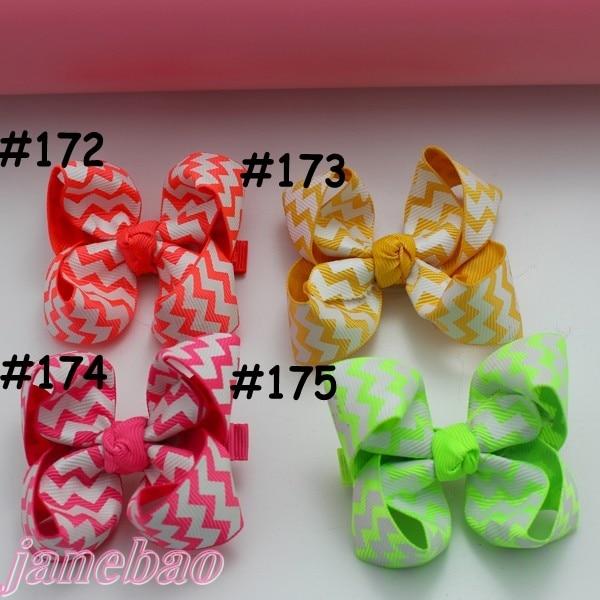 20 шт. Разноцветные 3 ''модный бутик заколки для волос для детей ясельного возраста волос бантики, аксессуары для волос