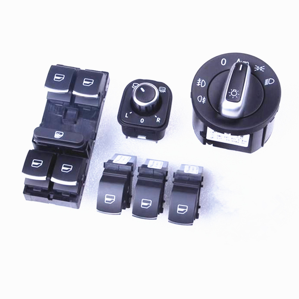 Oem Chrome Headlight Switches Side Mirror Push Button