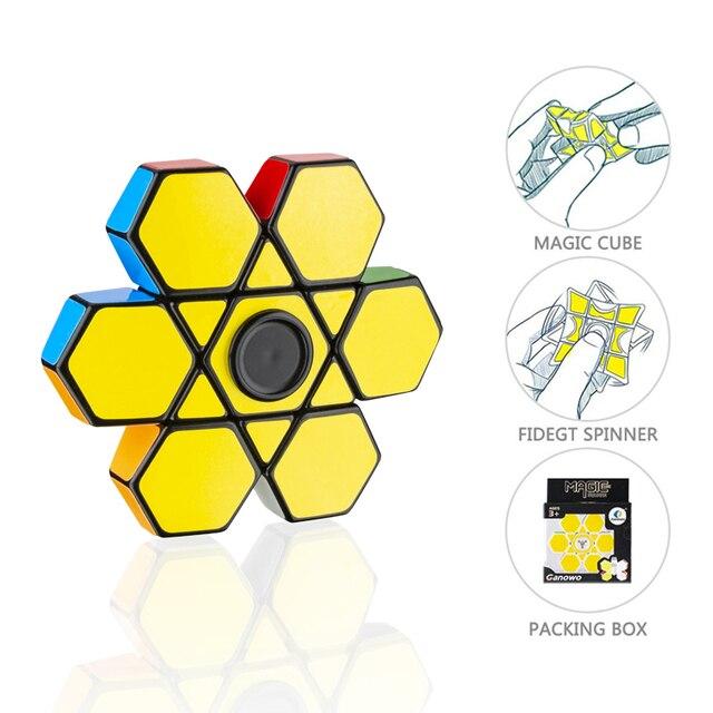 Креативный 1x3x3 Fingertip куб Гиро-Спиннер для мозгов, прорезыватель, волшебный куб, Спиннер, игрушка, антистресс, головоломка, игрушки для детей, подарки