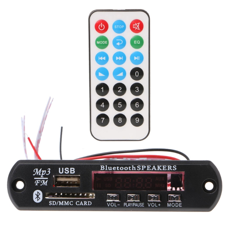 MP3 Decoder Board Bluetooth Speaker Remote Control SD Card USB MP3 WMA APE WAV FLAC