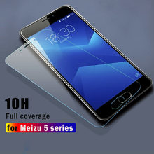 10H Transparent Protection Glass For Meizu M5 Note M5c A5 M5s High Quality Full Cover Tempered Glass Film For Meizu M5 Pro5 MX5(China)