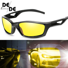 цены на Men Black Frame Polarized Sunglasses Women UV400 Outdoor Sport Driving Glasses Unisex Square Goggles  в интернет-магазинах