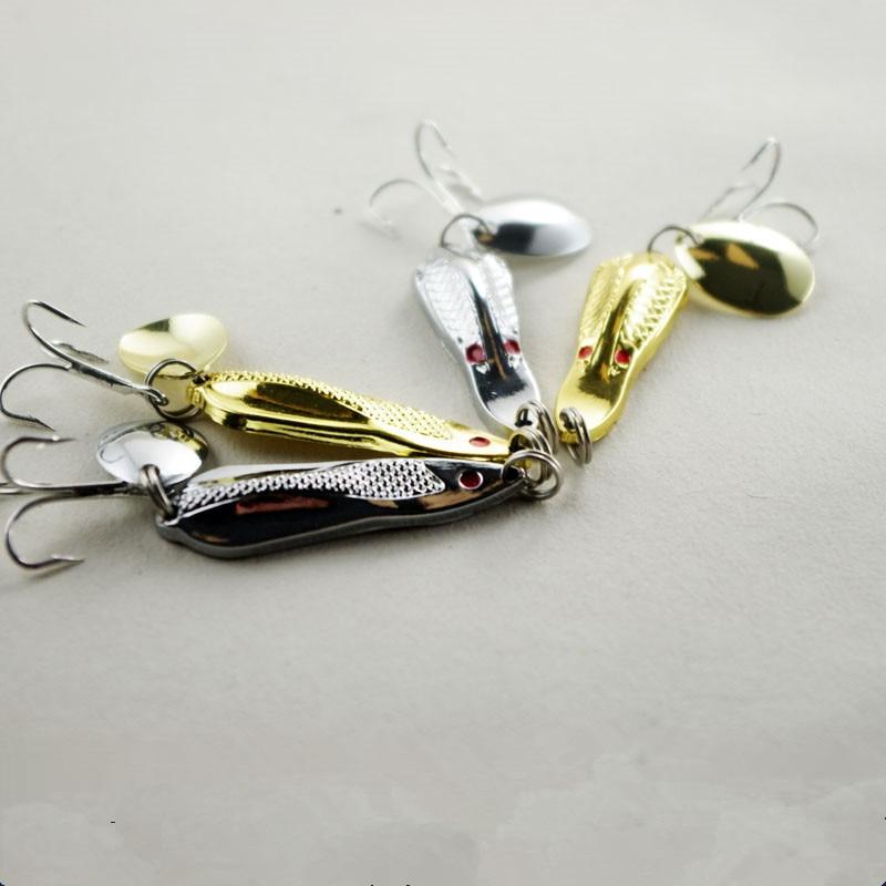 Horgászat Spinner Bait Spoon Lure Erős zajos Jigbait mesterséges - Halászat - Fénykép 1