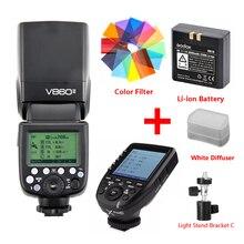 цена Godox Ving V860 II Li-ion Battery Speedlite Flash For Sony A7 A6000 A6300 for Canon Nikon Fuji Olympus w/ Xpro Flash Transmitter онлайн в 2017 году