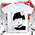 Mob Psycho 100 T-shirts Anime Cotton T Shirt Short Sleeve Tops Loose Tees